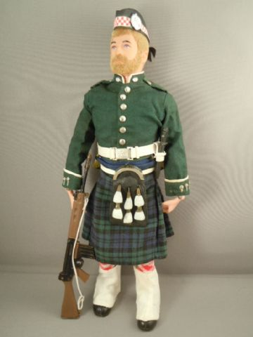 ACTION MAN - ARGYLL & SUTHERLAND HIGHLANDER - On Blonde Bearded Figure
